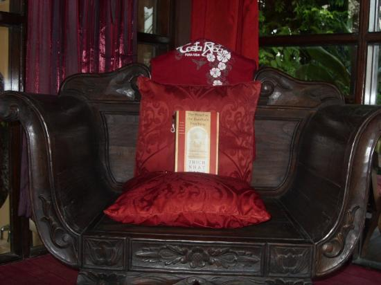 Anamaya Resort & Retreat Center: The Bali chair- I had to accessorize with my special things