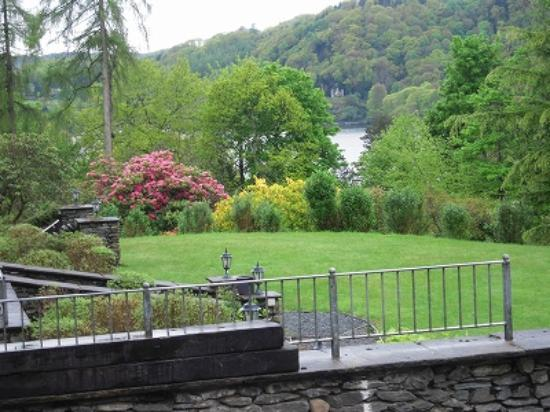 Lindeth Howe: We can overlook the Windermere from the garden.