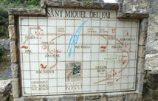 Sant Miquel del Fai Monastery: Plano y recorridos del lugar