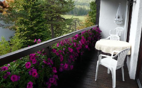 Appartementhaus Sonnenhof: Balkon des Appartement Muttekopf