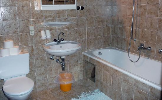 Appartementhaus Sonnenhof: Bad/WC des Appartement Muttekopf