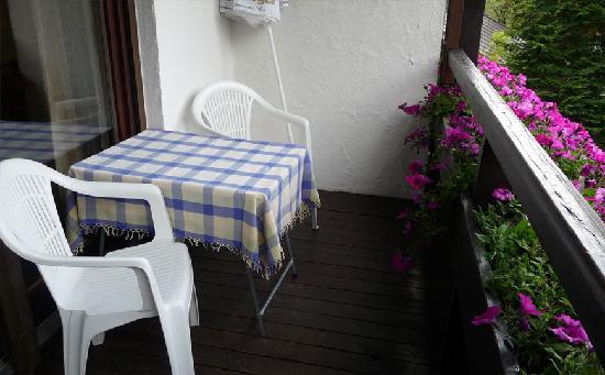 Appartementhaus Sonnenhof: Balkon des Appartement Plattein