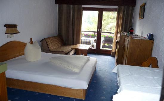 Appartementhaus Sonnenhof: Schlafbereich des Appartement Plattein