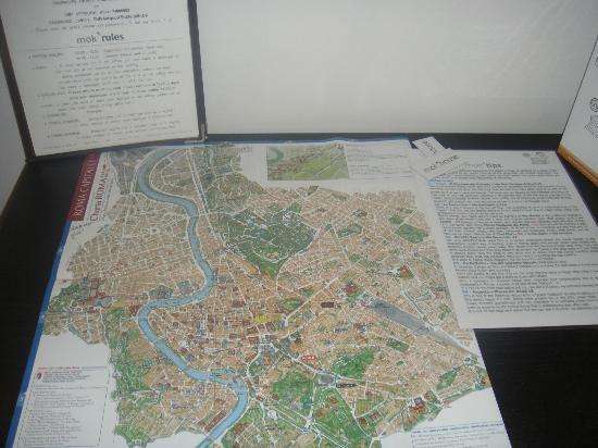 Mok'house B&B: the map of Rome and recommendations of places to eat