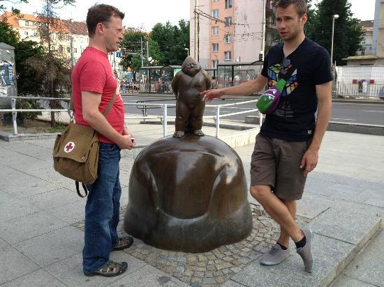 What's Up Wroclaw: Our guide is on the right.
