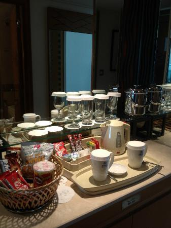 Hilton Dubai Jumeirah Coffee Tea In Room Setup
