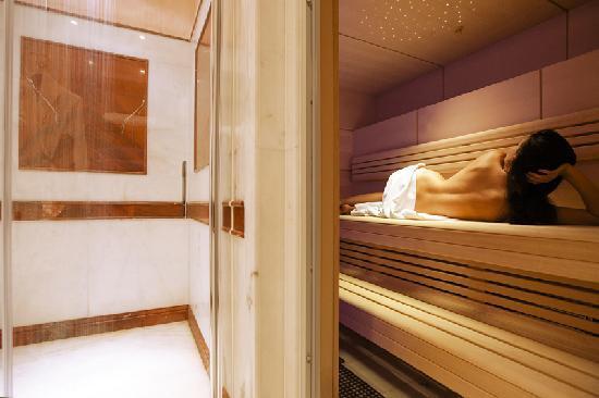 hotel spa suite sauna - swiss diamond hotel lugano