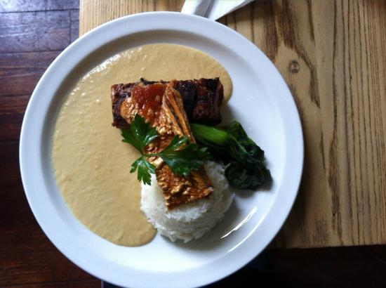 Water of Leith Cafe Bistro: Slow Roast Pork Belly with an Apple & Onion Veloute