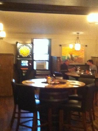 Beef & Brew: The back of the bar area.