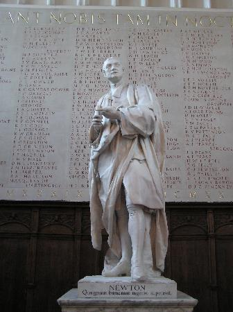Cambridge Christian Heritage Tours: Isaac Newton Statue  (Trinity Antechapel)