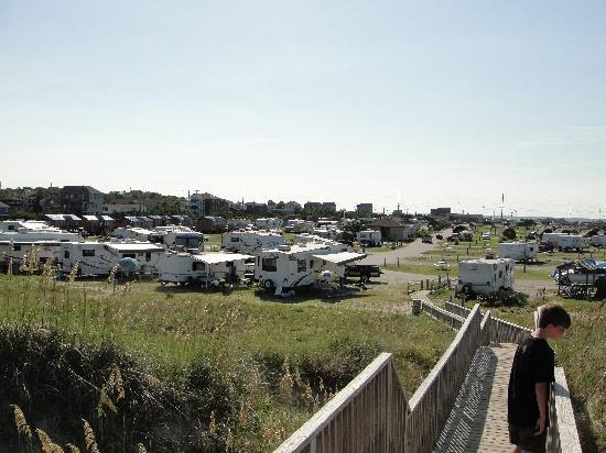 Cape Hatteras KOA Resort: View of Campground from beach