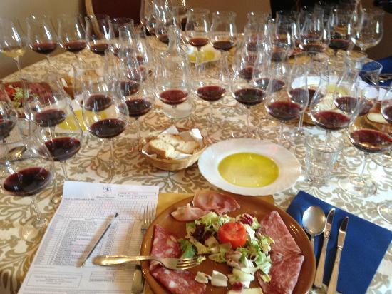 Tenuta Torciano: Wine tasting lunch.