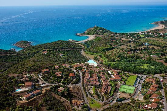 Club Valtur Parco Torre Chia: Vista costa