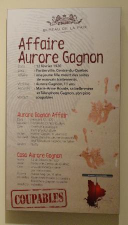 Musée Québécois de Culture Populaire : Aurore