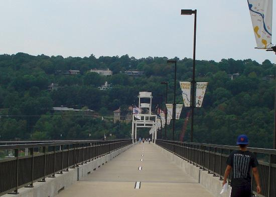 Little Rock, AR: long stretch of bridge, and this picture doesn't even show half of it!