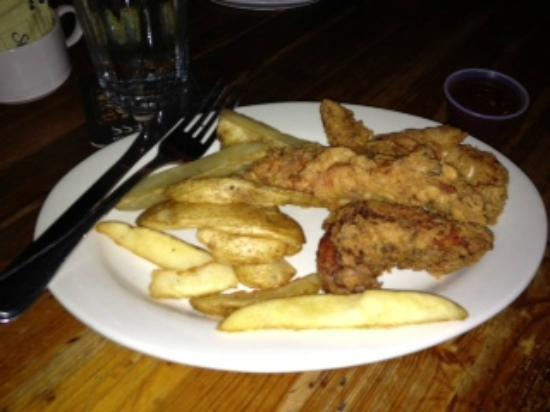 McNellie's Public House : Beer Battered Chicken Strips and Fries