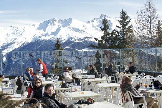 Hotel La Cambuse : la vue en hiver depuis la Cambuse