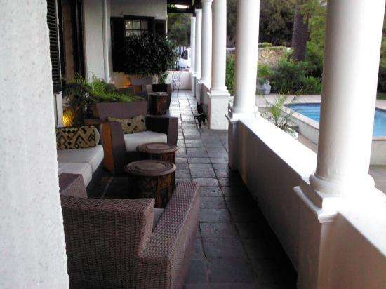 Rutland Lodge: The terrace outside the room