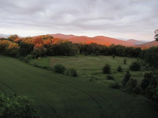 Mas Pelegri: Sunrise on the day we left