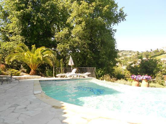Le Mas des Amandiers : La piscine avec vue sur St Paul de Vence
