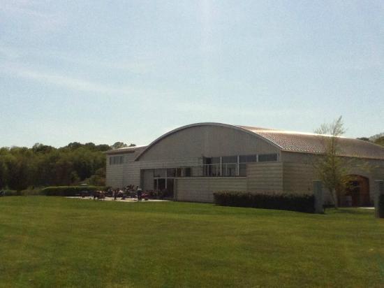 Saltwater Farm Vineyard: back patio