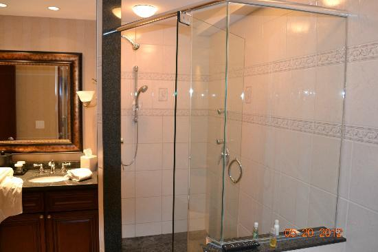 Hilton Garden Inn Bangor: presidential suite shower