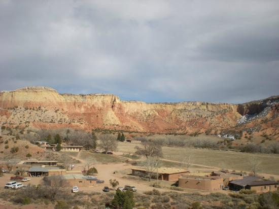 Ghost Ranch Education & Retreat Center: Ghost Ranch from up near Chimney Rock