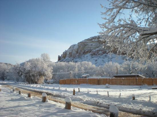 Ghost Ranch Education & Retreat Center: Ghost Ranch Under a Blanket of Snow!