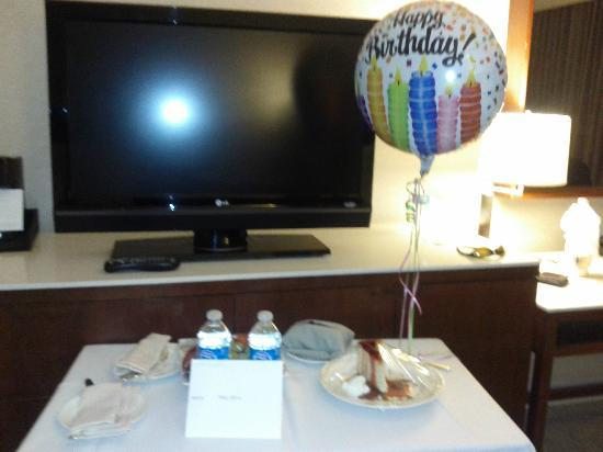 Westin Galleria Houston Hotel: The staff made my birthday extra special, this was in my room as soon as I came back that evenin