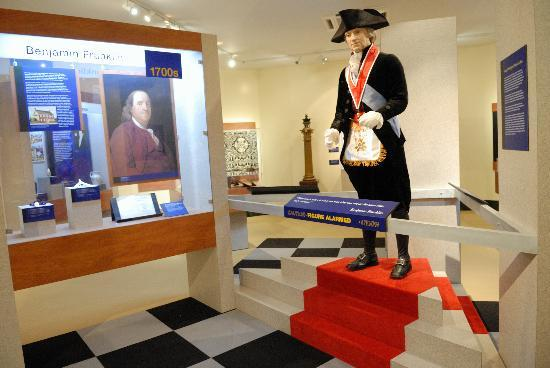 George Washington Masonic National Memorial: Part of one of the exhibits