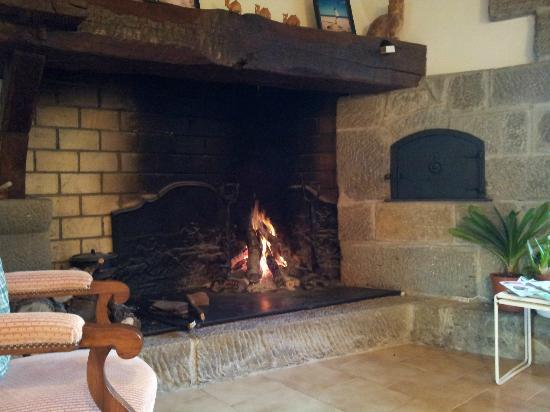 Domaine Thomson: Inviting log fire to take the chill off the evening