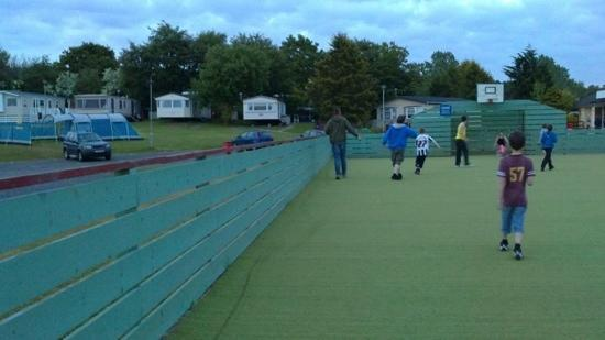 Coylton, UK: all weather pitch central to every thing great for the kids to play and socialise
