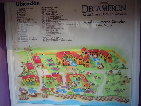 Royal Decameron Complex: resort map
