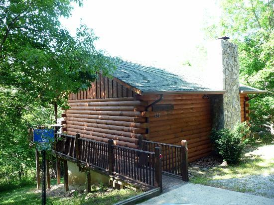 Cripple Creek Bed and Breakfast Cabins: Cabin exterior -- closest to office