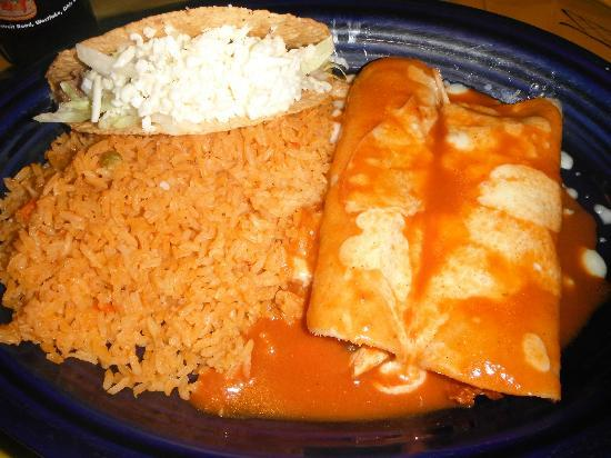 Don Ramon: One Taco, 2 Enchiladas & Rice