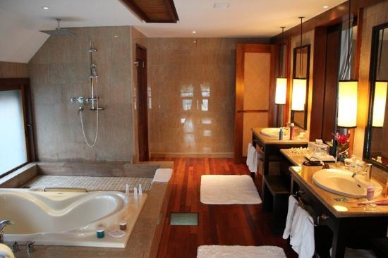 The St. Regis Bora Bora Resort: The bathroom!!