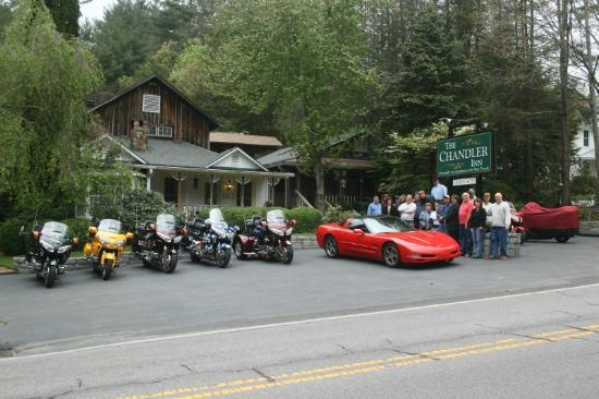 The Chandler Inn: View of our group out front