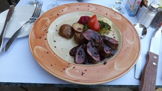 Au Biniou Restaurant: Venison in currant sauce
