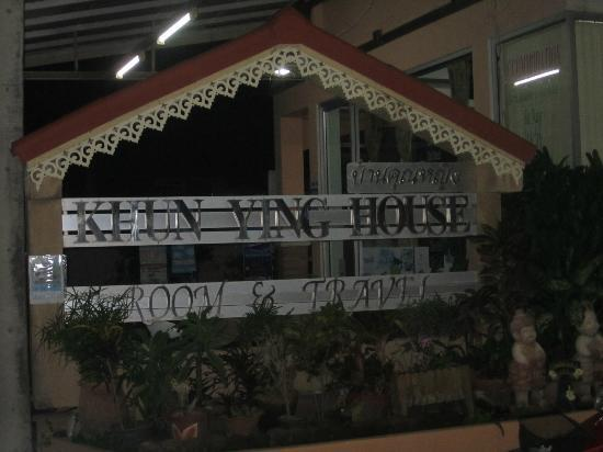 Khun Ying House: The main hotel sign