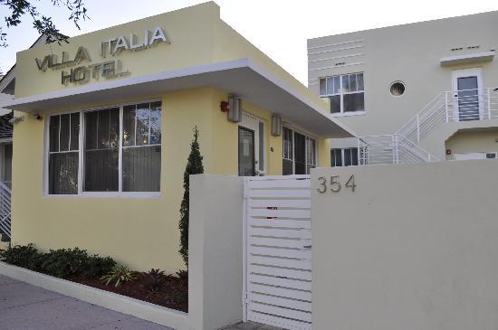 Villa Italia Hotel in South Beach's SoFi neighborhood