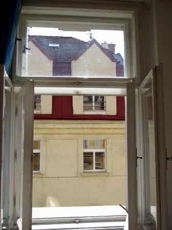 Hostel Bell: View out our window (room 3)