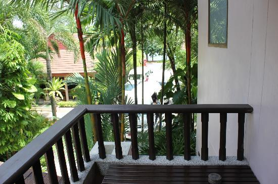 Aonang Princeville Resort: from balcony. try not to open unless you want to hang your wet clothes.
