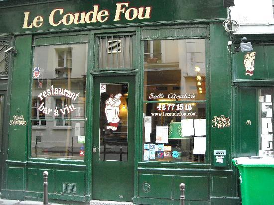 Le Coude Fou : Nice and inviting front.