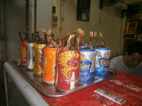 Vietnam Awesome Travel - Day Tours: Chicken in a can! I feel like chicken tonight!