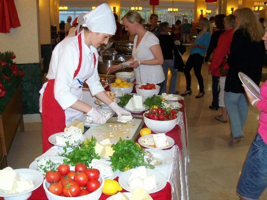 Vera Verde Resort : buffet de fromages