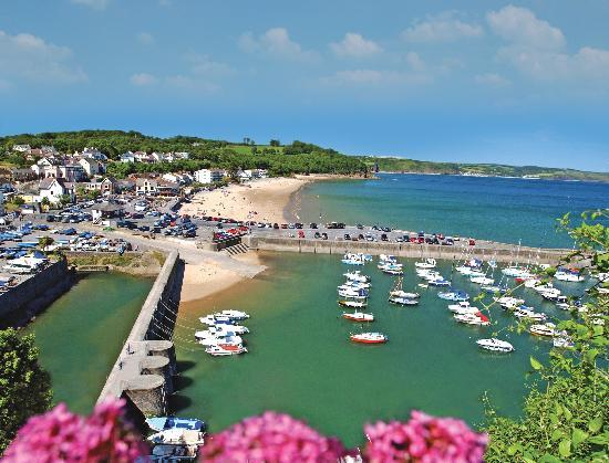 Woodlands Guesthouse: saundersfoot beach