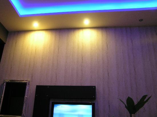 Blue Lights On The Room S Ceiling Picture Of Gallery Art Hotel Trikala Tripadvisor