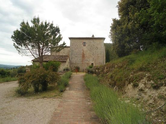 Castello Valenzino: Cortile per arrivare al castello