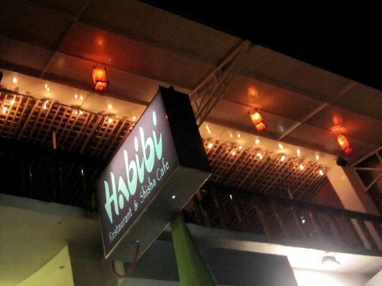 Habibi Restaurant & Shisha Cafe: Habibi sign, 2nd floor