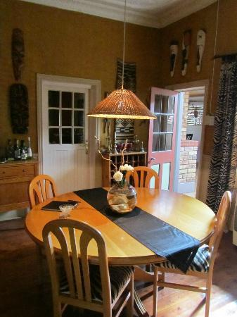 The Feathered Nest: Dining area
